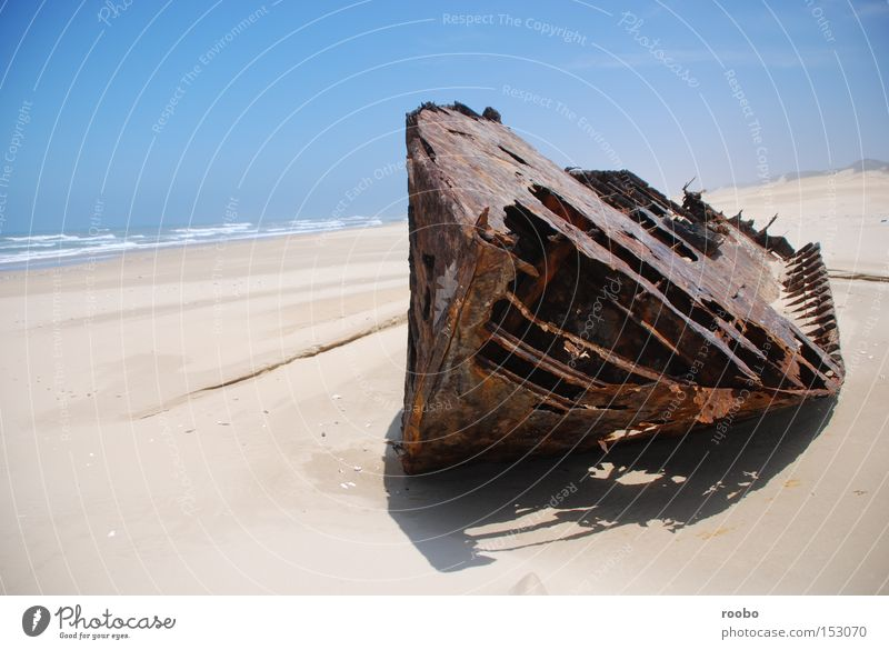 Cape Coast Wreck Ocean Beach Sand Watercraft Waves Derelict Boots Shipwreck Solitary