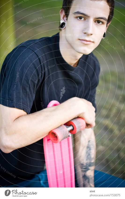 ausgerollt Youth (Young adults) Pink Skateboarding Trend Altbier Funsport Food