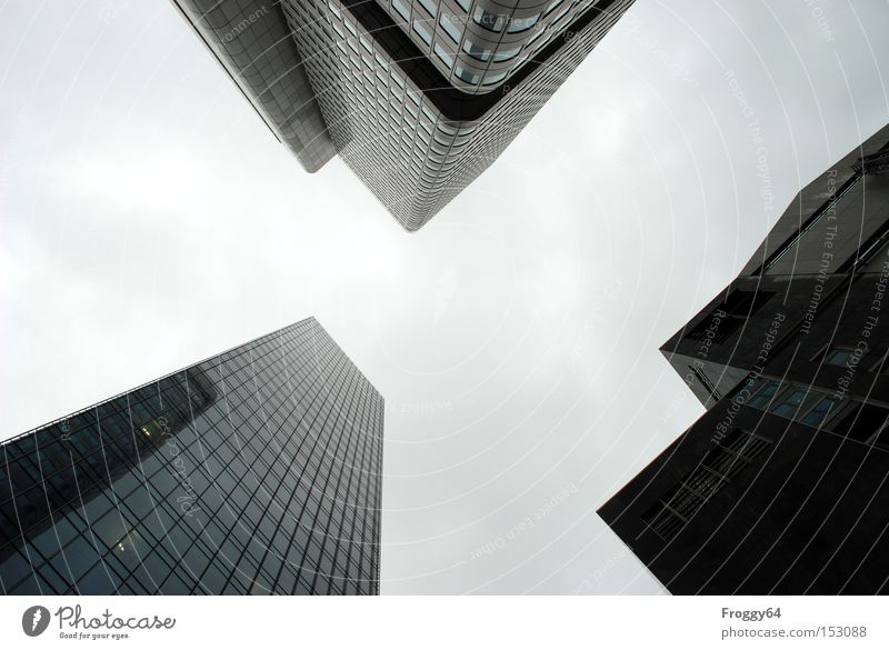 Sky House (Residential Structure) Clouds Window Gray Success High-rise Point Frankfurt Rectangle Steep