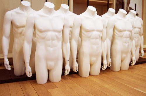 New men need the land Man Naked Masculine Multiple Body Design Style Strong Testicle Accumulation Hand Stomach Together Power Teamwork Matrix Twin Mannequin