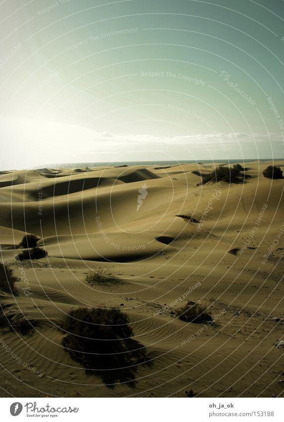 Sky Beach Far-off places Warmth Sand Coast Desert Beach dune Gran Canaria