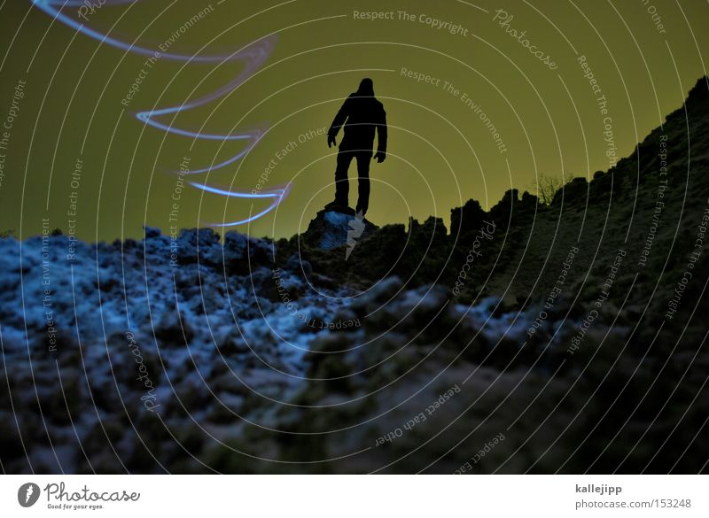 Human being Man Mountain Line Flying Aviation Tracks Universe Moon Surface UFO Astronaut Resident Scientist Zigzag Spacecraft