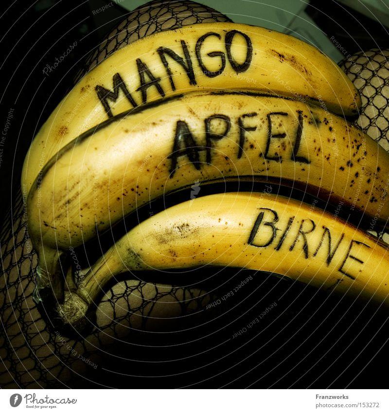Joy Nutrition Food Humor Funny Fruit Apple Gastronomy To enjoy Delicious Vitamin Joke Banana Pear Mango