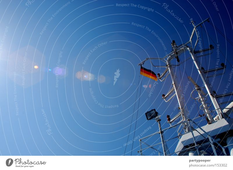 Sky Sun Ocean Blue Red Black Watercraft Germany Gold Europe Communicate Flag German Flag Navigation Baltic Sea Denmark