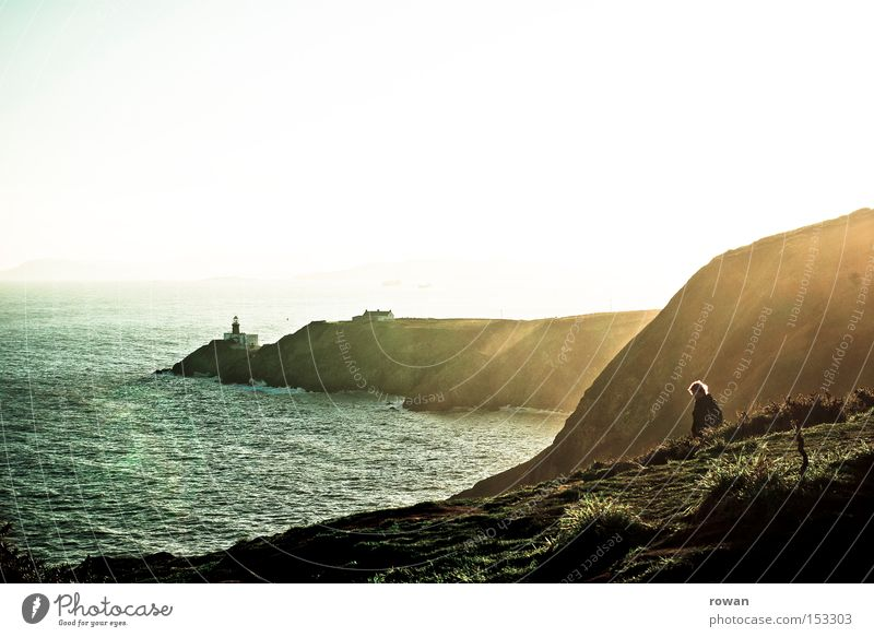 Nature Sun Ocean Winter Beach Mountain Lake Coast Rock Vantage point Lighthouse Cliff Ireland