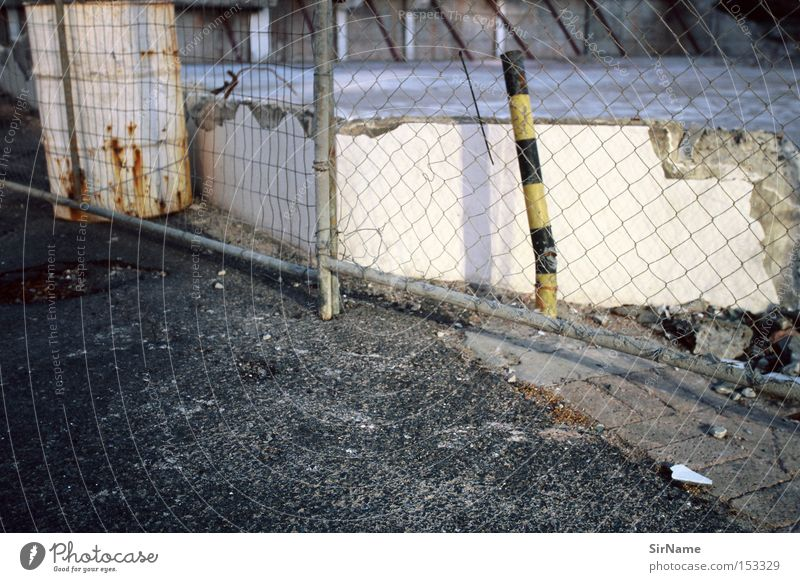Wall (building) Wall (barrier) Authentic Gloomy Broken Construction site Derelict Africa Fence Trashy Dismantling Pole Tar Curbside Tank Bright light