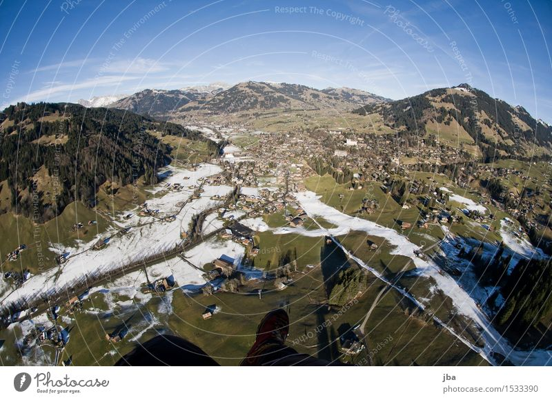beautiful view 2 Lifestyle Well-being Relaxation Calm Trip Freedom Winter Snow Sports Paragliding Nature Landscape Elements Air Earth Sky Climate change
