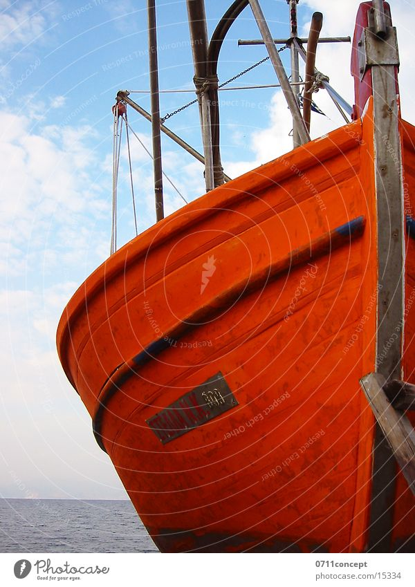 Ocean Vacation & Travel Watercraft Romance Navigation Majorca Fishery Fisherman Single Fishing boat Hull