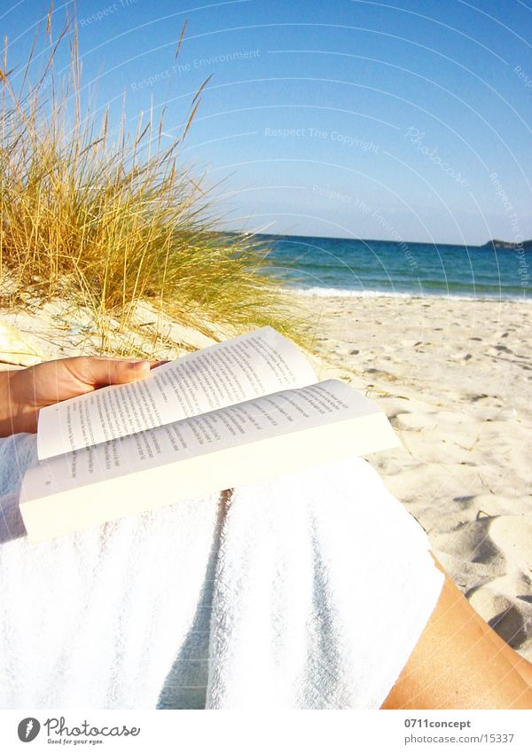 Water Blue Hand Sun Vacation & Travel Ocean Beach Relaxation Sand Think Lake Healthy Waves Horizon Leisure and hobbies Book