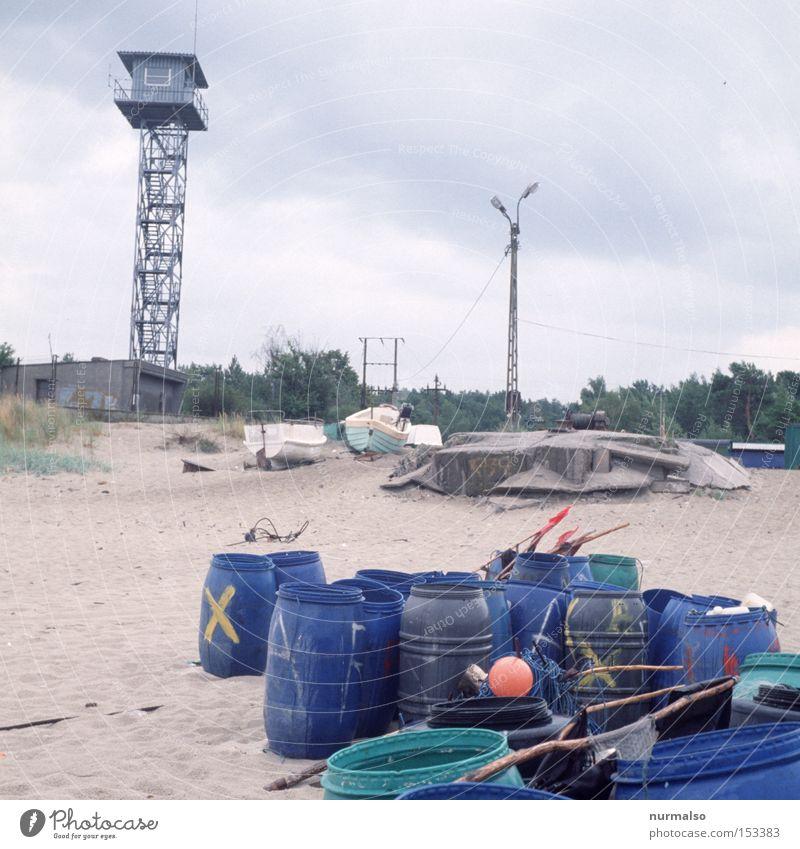 Ocean Beach Loneliness Rain Coast Fear Safety Tower Border Opinion Fence Russia Baltic Sea Panic Fisherman Surveillance