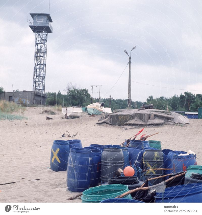 Surveillance is for the buoy Keg Tower Baltic Sea Russia Poland Polish Border Beach Fisherman Ocean Rain Loneliness Fence Opinion Fear Panic Coast Safety