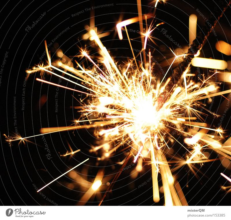 Joy Party Blaze Fire Dangerous Threat New Year's Eve Hot Burn Spark Ignite Sparkler Burnt Explosive Rousing