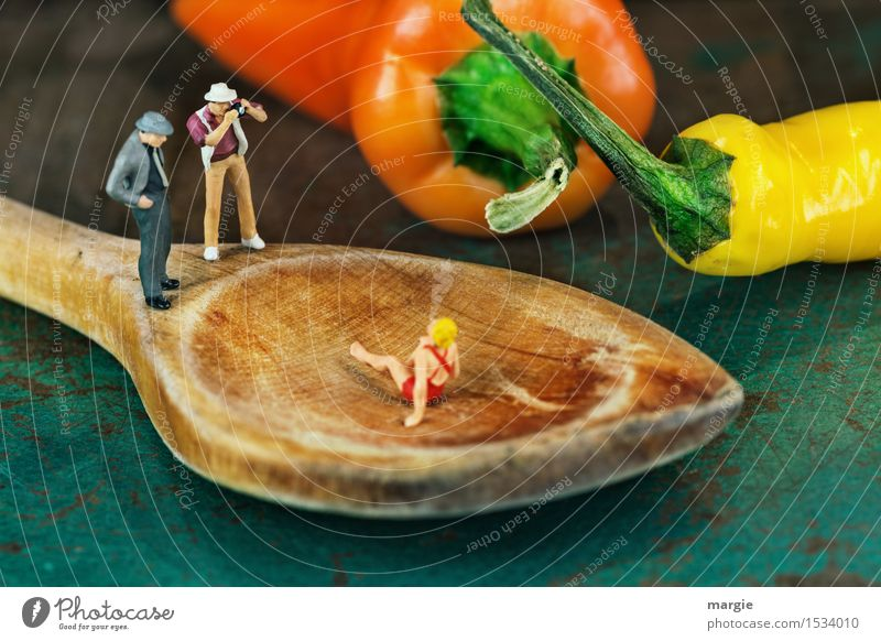 Miniworlds- Hot Photo Shooting Vegetable Nutrition Organic produce Vegetarian diet Lifestyle Leisure and hobbies Kitchen Human being Masculine Feminine Woman