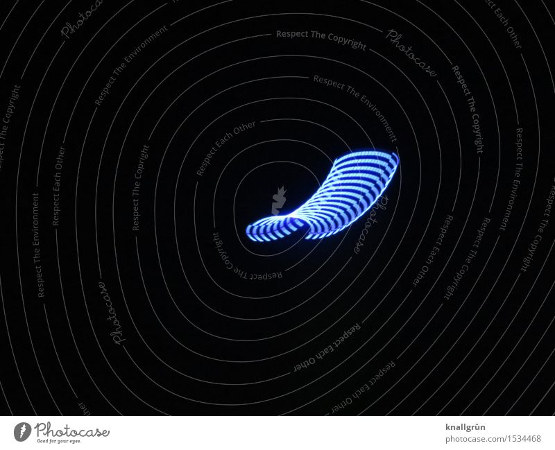 flying Night sky Flying Exceptional Blue Black Colour Phenomenon UFO Colour photo Exterior shot Experimental Deserted Copy Space left Copy Space right