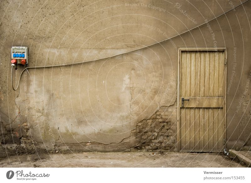 Old Gray Door Facade Industry Electricity Gloomy Industrial Photography Cable Transience Derelict Entrance Ruin Socket