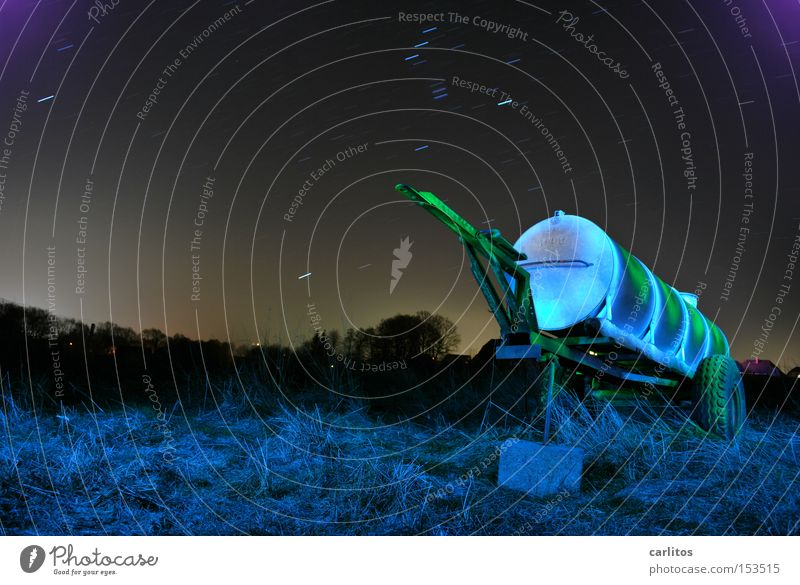 Green Blue Colour Dark Stars Star (Symbol) Long exposure Agriculture Radiation Starry sky Followers Production Radioactivity