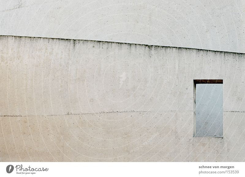 House (Residential Structure) Window Gray Stone Architecture Concrete Modern Construction site Build Seam