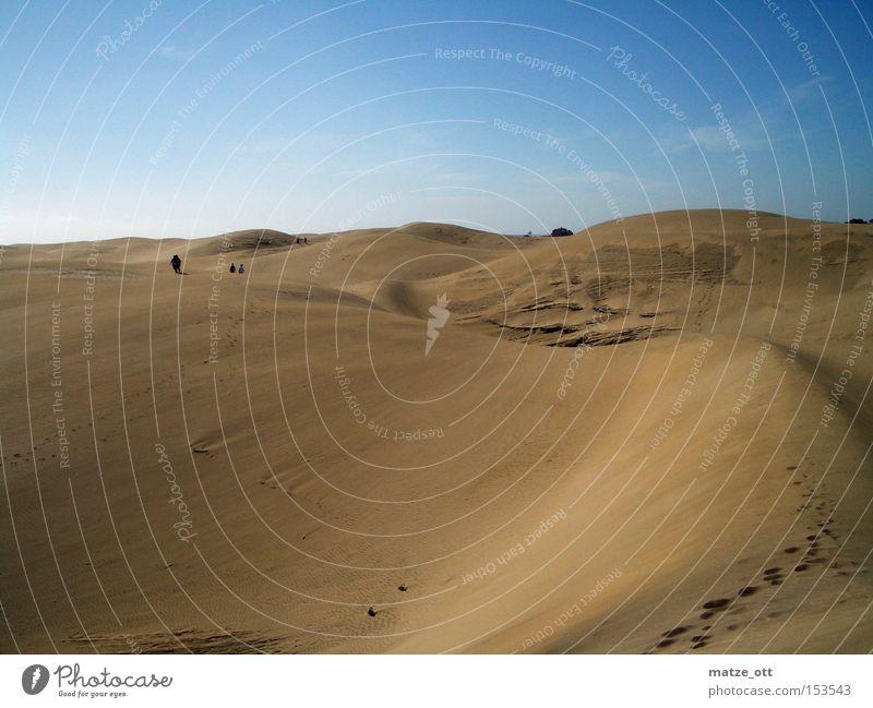 Sky Summer Vacation & Travel Warmth Sand Earth Africa Desert Beach dune Dune Gran Canaria