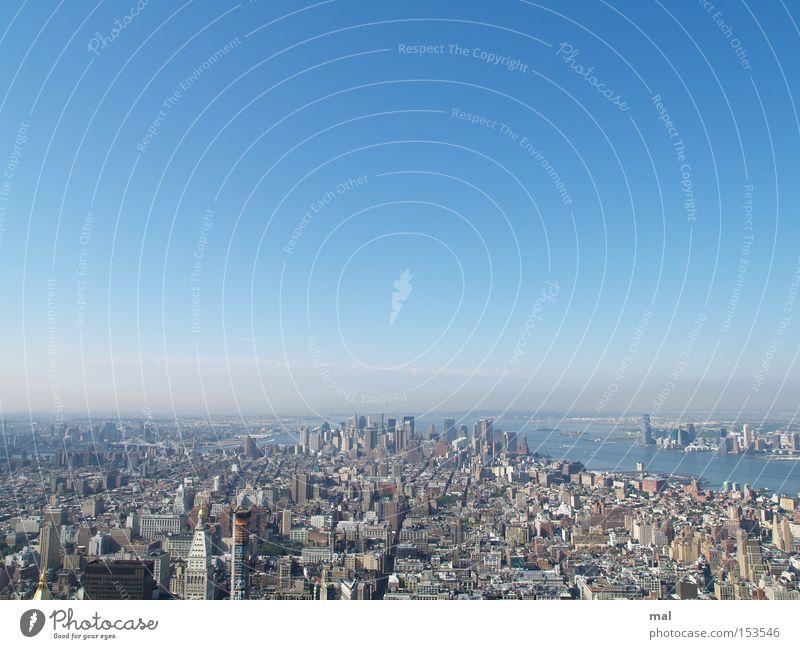 New York City Landmark Monument Panorama (View) Manhattan Sky Skyline Obama Americas USA Blue Financial District Large Town