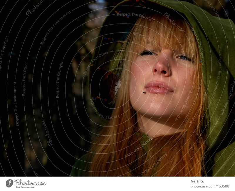 Woman Green Beautiful Adults Face Feminine Emotions Sadness Moody Natural Wait Grief Longing Long-haired Concern Wanderlust
