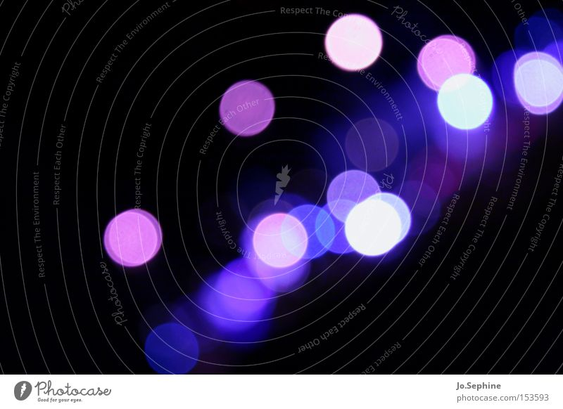 Visually impaired in violet Night life Light (Natural Phenomenon) Play of colours Colour game Visual spectacle bokeh light points darkness clearer Esthetic