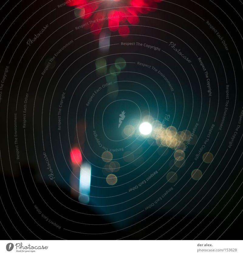 Beautiful Red Dark Round New Year's Eve Firecracker Blur
