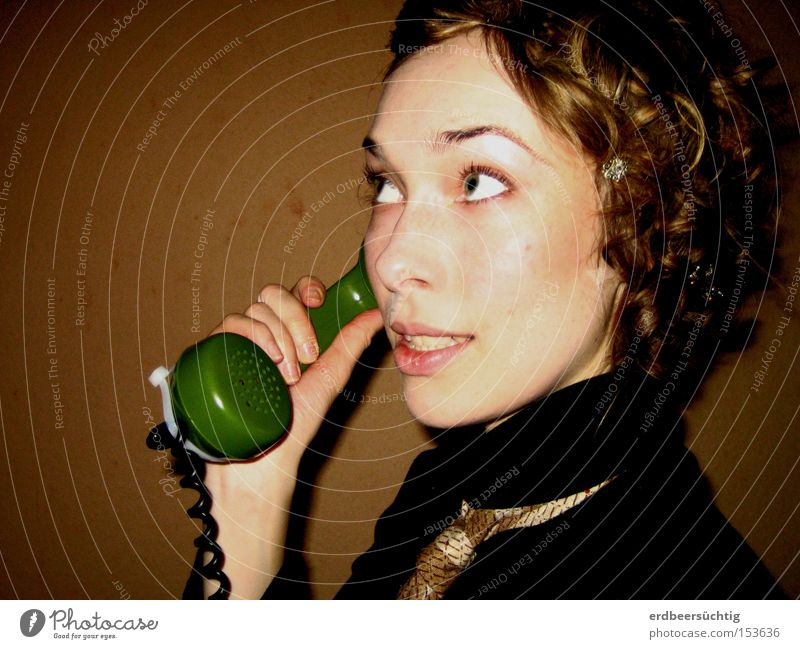 Woman Old To talk Adults Telephone Communicate Human being Portrait photograph Services Nostalgia To call someone (telephone) Receiver
