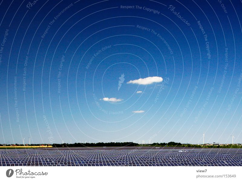 Sky Blue Summer Environment Energy Energy industry Modern Electricity Future Technology Authentic Simple Solar Power Beautiful weather Environmental protection Competition