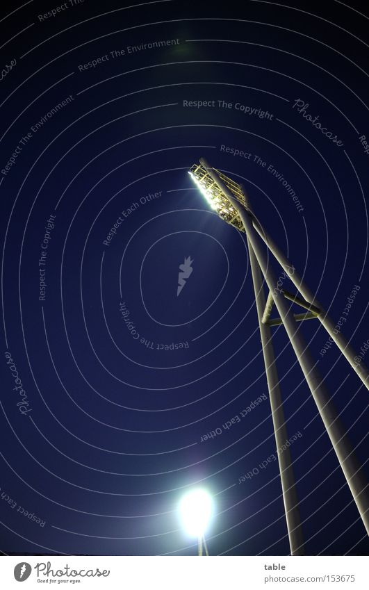 there will be light... Stadium Lighting Lamp Night Dark Bright Sky Floodlight Joy Playing