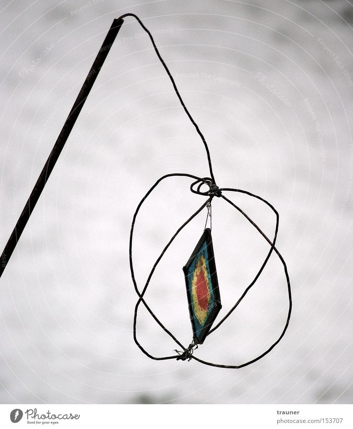 Winter Loneliness Cold Snow Garden Park Glass Decoration Lantern Jewellery Stick Wire Rod Embellish Curlicue Reticular