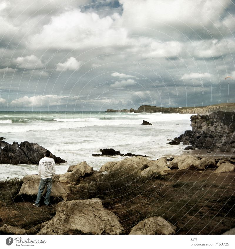 uneasy conditions Late Wait Break Stagnating Waves Surf Coast Rocky coastline Beach