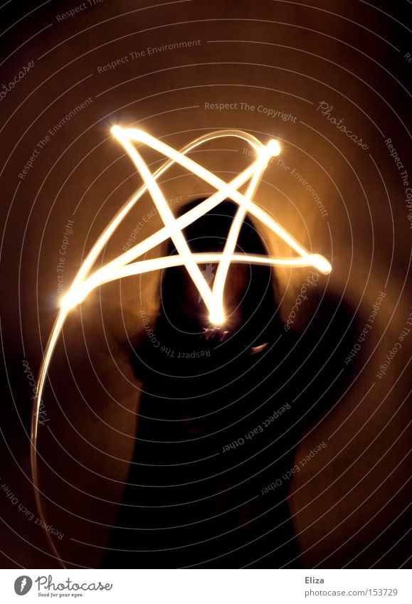 Human being Dark Religion and faith Protection Sign Long exposure Symbols and metaphors Evil Mystic Magic Visual spectacle Devil Witch