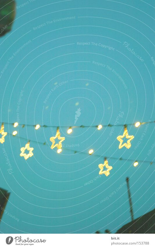 STARS DRY LINE Lamp Feasts & Celebrations Sky Happy Creativity Background picture Star (Symbol) Christmas & Advent Light Fairy lights Christmas Fair