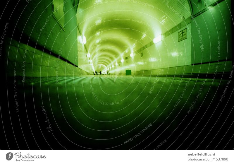Elbe Tunnel Leisure and hobbies Night life Human being Adults Life 4 Group 18 - 30 years Youth (Young adults) 30 - 45 years Art Artist Shows Music Band Hamburg