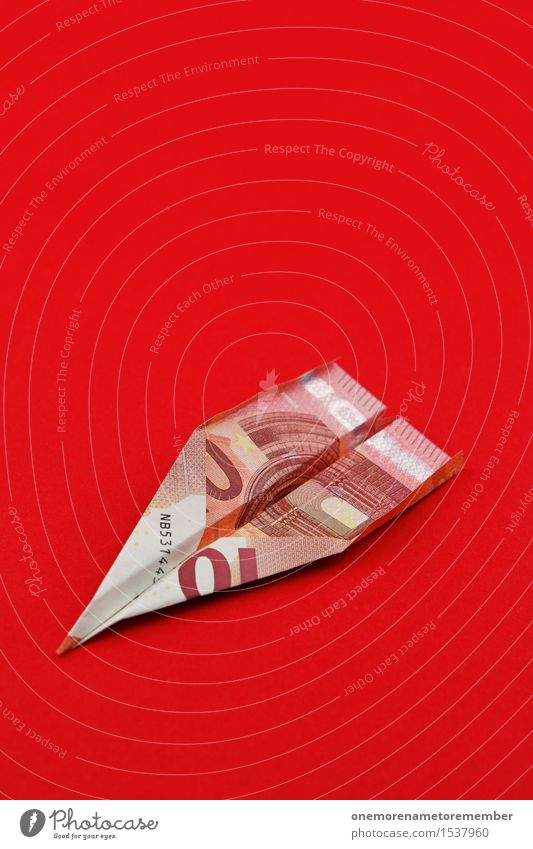 10 Euro Flier Art Work of art Esthetic Financial Industry Capitalism Money Capital investment Financial Crisis Europe Euro symbol Euro bill Donation Airplane