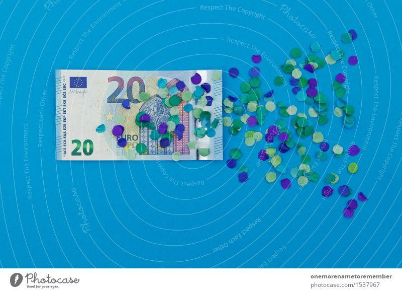 Blue Art Business Esthetic Europe Money Financial institution Derelict Decline European Bank note Work of art Euro symbol Financial Crisis Monetary capital