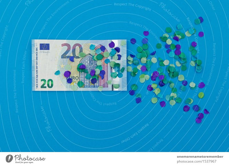 I'll double it to 20 euros! Art Work of art Esthetic Euro Europe Financial Crisis Euro symbol European Europe Day Euro bill Blue Money Financial institution