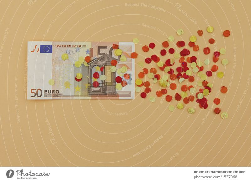 and another 50 euros on top! Art Work of art Esthetic Euro Financial Crisis Europe European Euro symbol Euro bill Decline Derelict Confetti Bank note Money