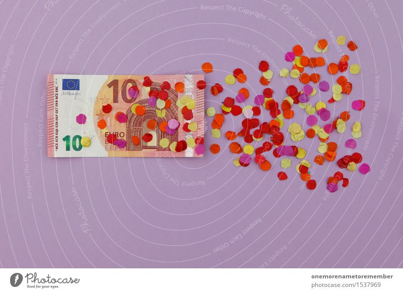 Art Esthetic Europe Derelict Decline Work of art Confetti Crisis Euro symbol 10 Financial Crisis Loose change Euro bill Crisis management Impending crisis