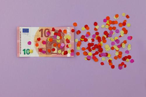 What do I say, 10 euros! Art Work of art Esthetic Euro bill Financial Crisis Confetti Decline Derelict Europe Euro symbol Crisis management Impending crisis