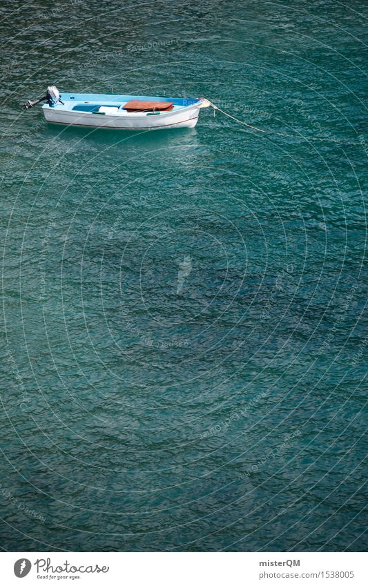I'll be off. Art Work of art Esthetic Summer vacation Watercraft Boating trip Ocean Coast Vacation photo Vacation mood Colour photo Multicoloured Exterior shot