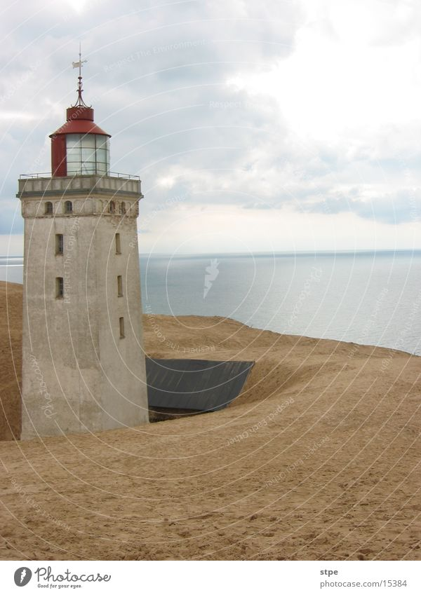 Lighthouse aD Ocean Architecture Sand Beach dune Bury Denmark North Sea