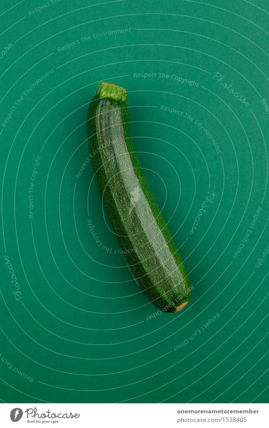 the natural one Art Work of art Esthetic Green Zucchini Delicious Healthy Eating Organic produce Vegetarian diet Ecological Vegetable Nutrition Design Fashioned