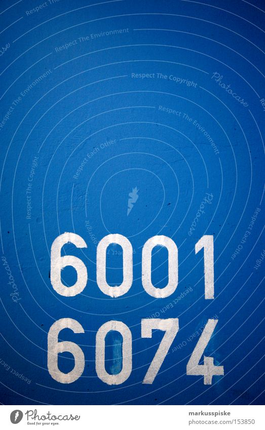 6001 - 6074 Characters Information Typography Digits and numbers Story Blue White Orientation Services Detail Signage four-digit