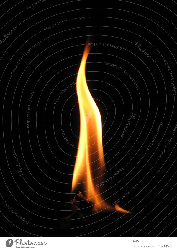 Close-up of a single flame. Red Hot Flame Burn Fire Blaze Orange Orange-red