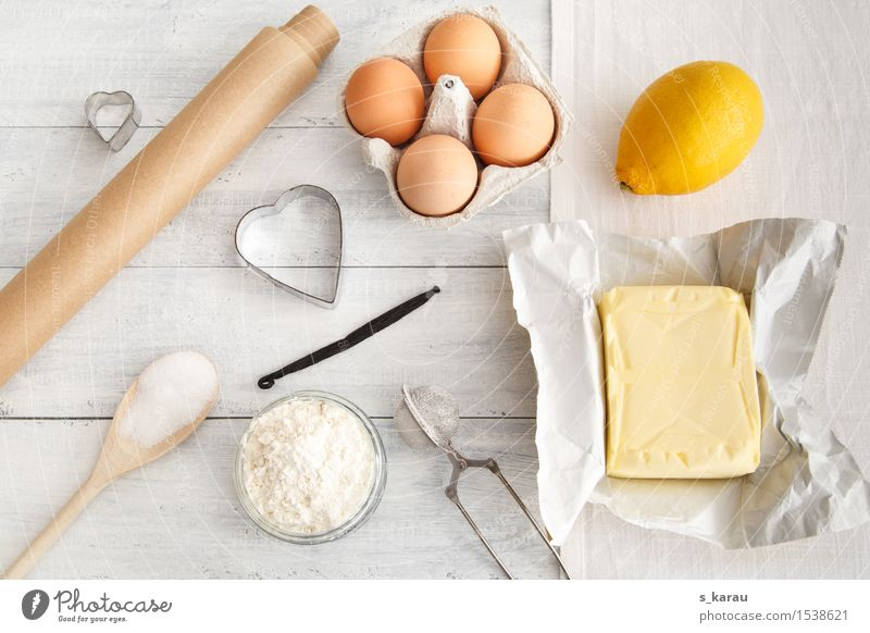 baking day Food Dairy Products Fruit Dough Baked goods Nutrition Wooden spoon Happiness Fresh Yellow Silver White Happy Leisure and hobbies Inspiration Cooking
