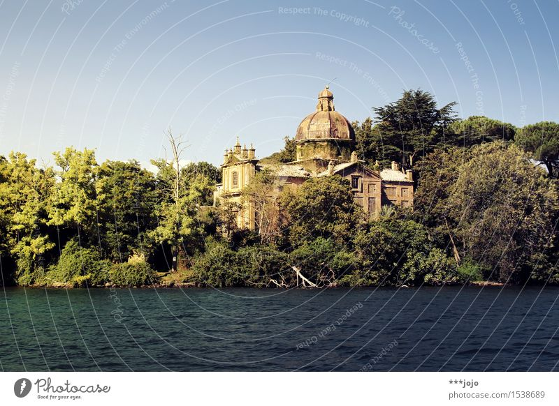 the ruins of photocase? Nature Landscape Summer Beautiful weather Garden Park Forest Waves Coast Lakeside Island Isola Bisentina lago di bolsena Church Ruin