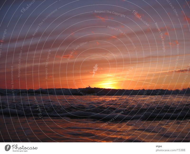 sunset 2 Sunset Ocean Waves Light Clouds Sky
