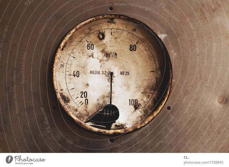 m³/h Science & Research Industry Energy industry Measuring instrument Technology cubic meters Digits and numbers Old Dirty Broken Decline Transience
