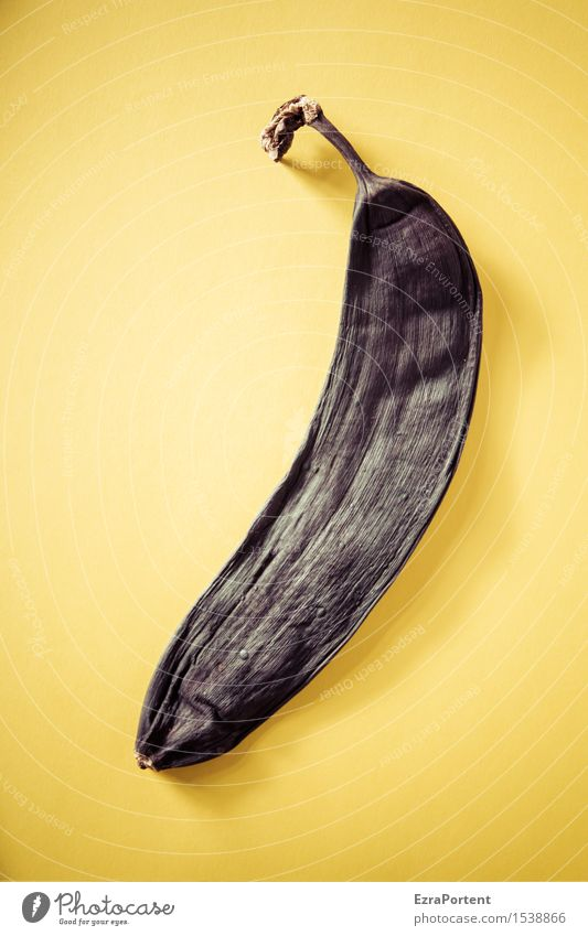 foodphotographyexercise' Food Fruit Nutrition Organic produce Vegetarian diet Diet Fasting Natural Yellow Black Background picture Graphic Colour Banana Spoiled